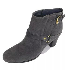 Marc Fisher Boots 9.5 Gray Ankle Harness Heel